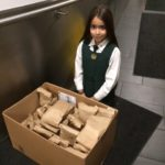 Delivering bagged lunches to the Ottawa Mission.